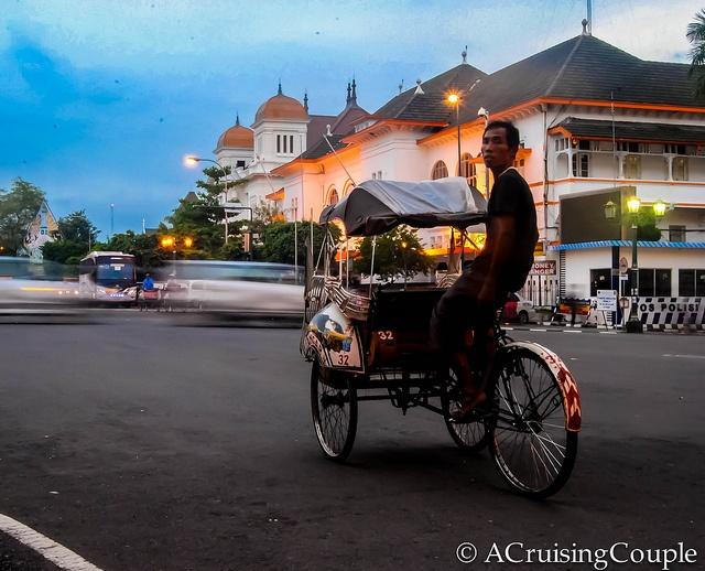 Jogyakarta rickshaw, Indonesia