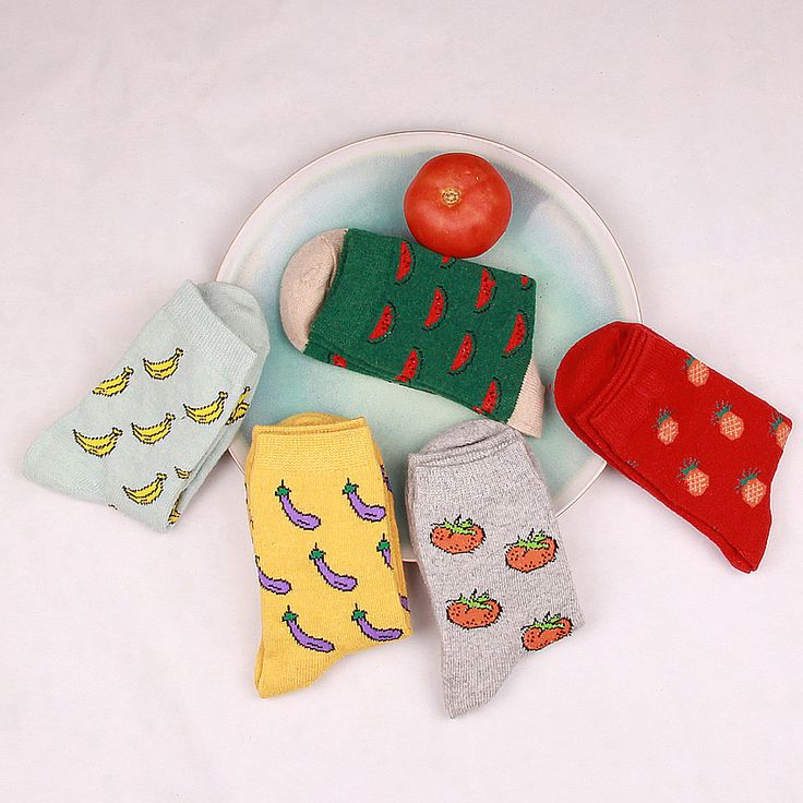 Hot winter retro fashionista full personality creative art lovers watermelon fruit cute elite casual socks socken sokken WZ30