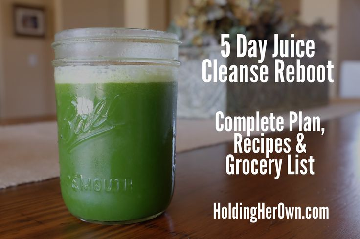 5 day juice cleanse plan