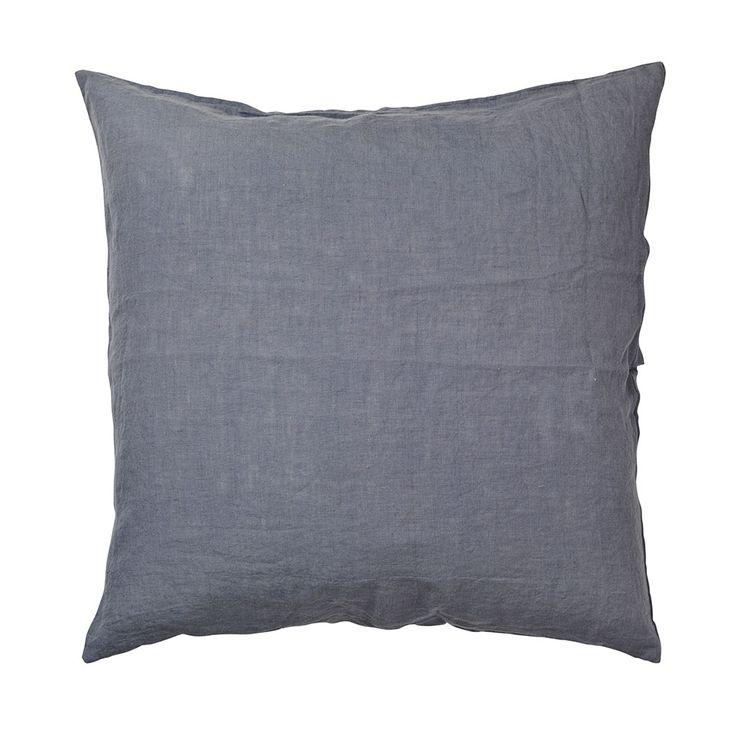 Linen Kissenbezug 60x60 Cm Flint Stone Blue