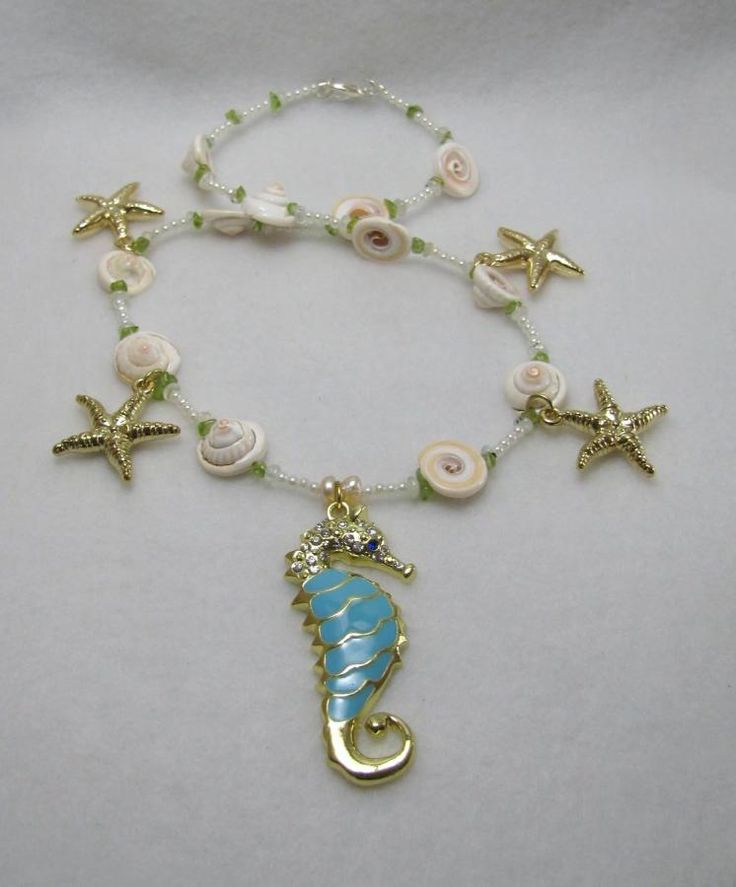 Majestic Seahorse - Jewelry creation by Linda Foust