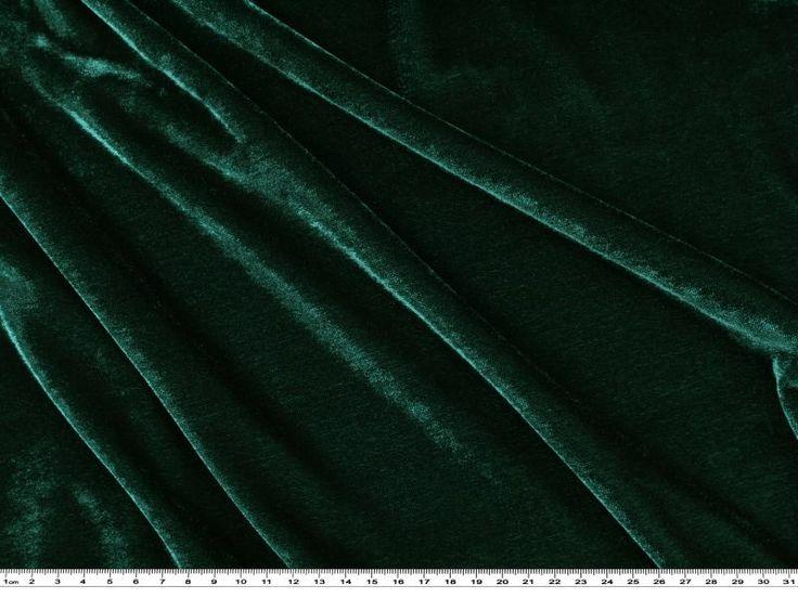 velours stretch uni vert sapin 150cm 1719 15 tissu et mercerie tissus home. Black Bedroom Furniture Sets. Home Design Ideas