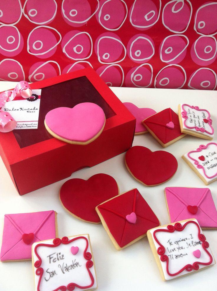 Cartas de amor en galletas