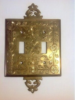 vintage bronze double light switch cover