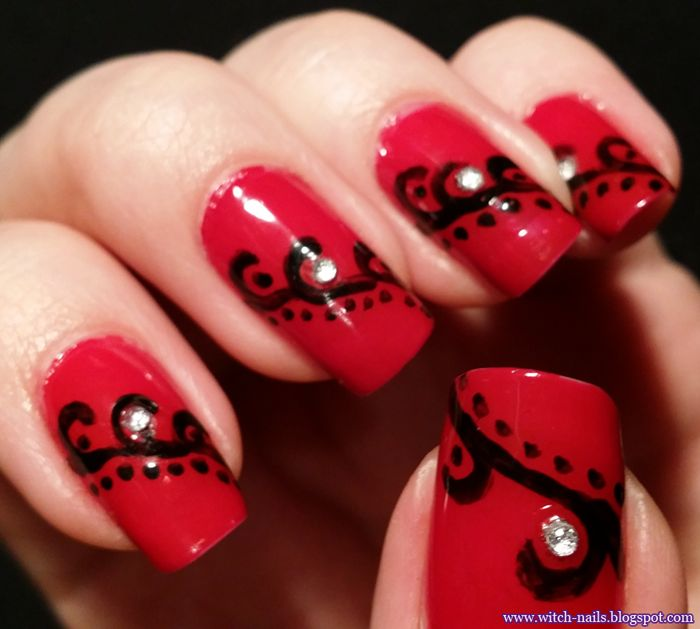 31 day nail art challenge - red nails