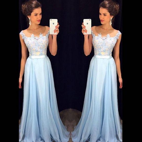 High Quality Prom Dress,chiffon prom dress,A-Line Prom Dress,Charming Prom Dress,Appliques Prom Dress