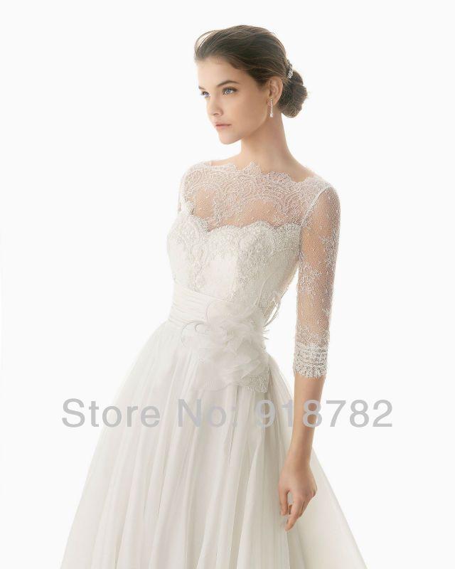 Бесплатная доставка на заказ элегантный вл с длинным с кружевными рукавами свадебное платье 2014, принадлежащий категории Свадебные платья и относящийся к Одежда и аксессуары на сайте AliExpress.com   Alibaba Group