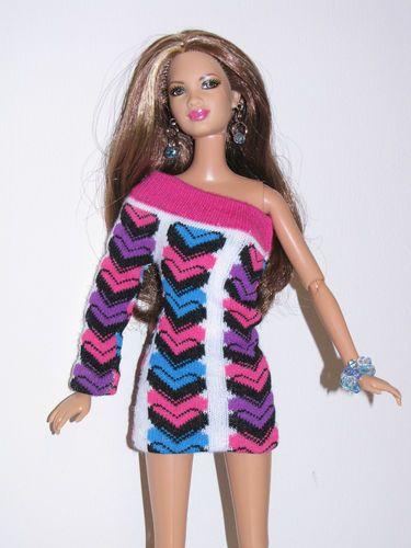 Look - a dress made from a child's sock - LOVE THIS IDEA!  OOAK Barbie Mini Sweater Dress Handmade | eBay