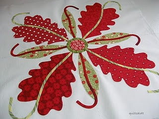 cotton applique quilt block. Vey nice quilt block. I like it.