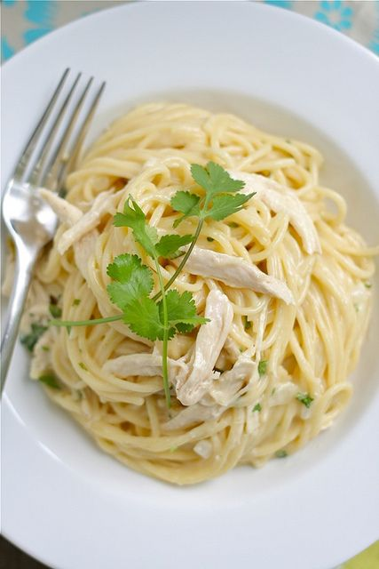 Tex-Mex Chicken White Cheddar Spaghetti 1 by laurenslatest, via FlickrMail, Maine Dishes, Cheddar Spaghetti, Yummy Food, Tex Mex Chicken, Texmex Chicken, White Cheddar, Favorite Recipe, Chicken White