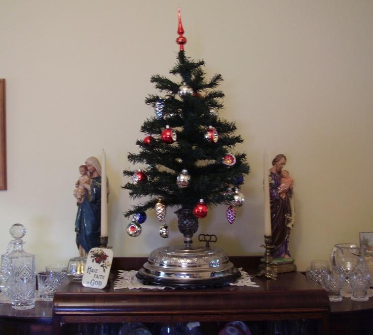 Antique German Christmas Tree Music Box... Christmas