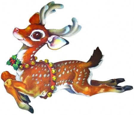 Ribbonwood Cottage: Silver and Vintage Reindeer-Decor and free images