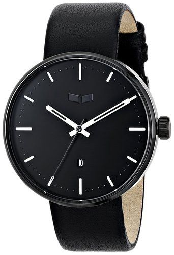 Vestal ROS3L002 Men's Watch Black Dial With Black Genuine Leather Strap