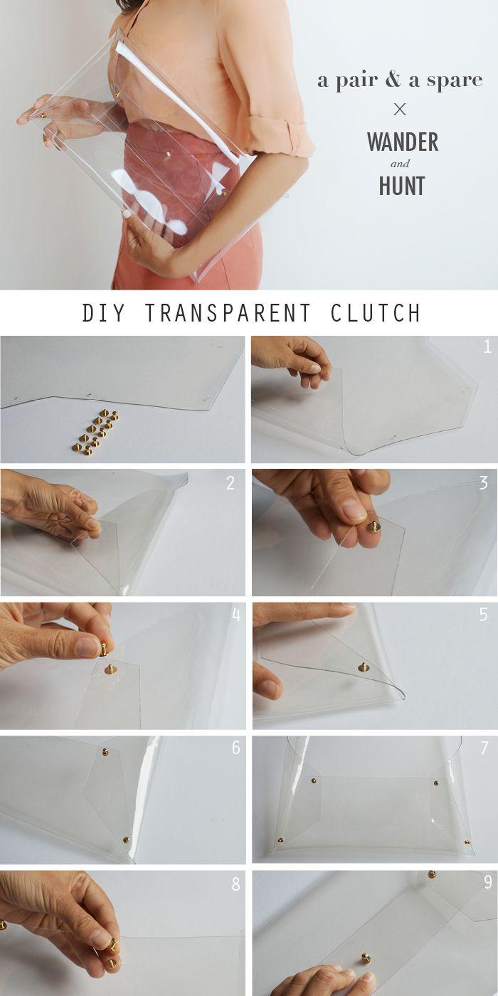 DIY Transparent Clutch | Wander & Hunt DIY Supplies