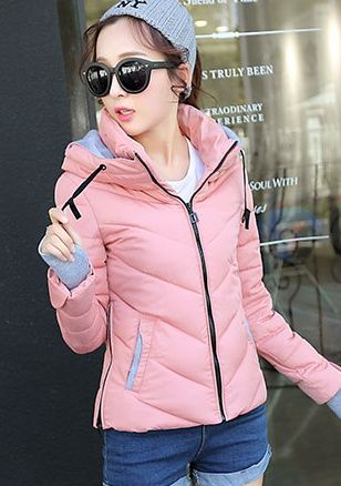 CW00711 Korean style cold down coat thermal down cotton coat