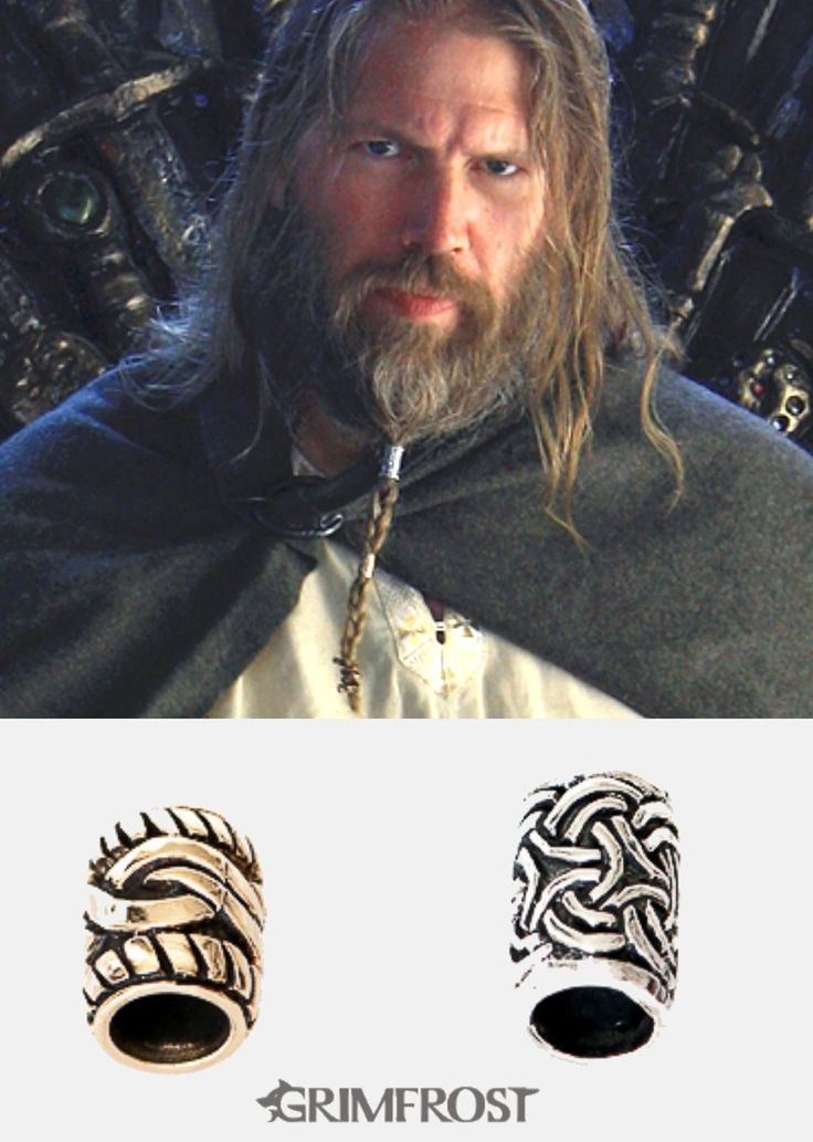 Viking Beard Rings by Grimfrost. http://grimfrost.com/en/beard-rings/