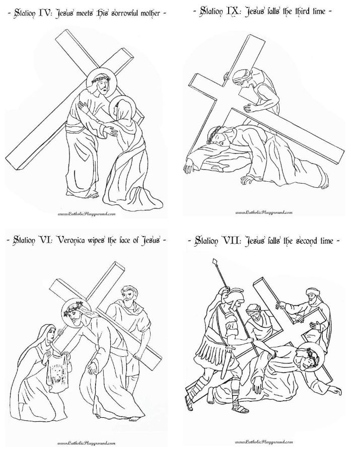 It is a photo of Satisfactory Stations of the Cross Catholic Printable