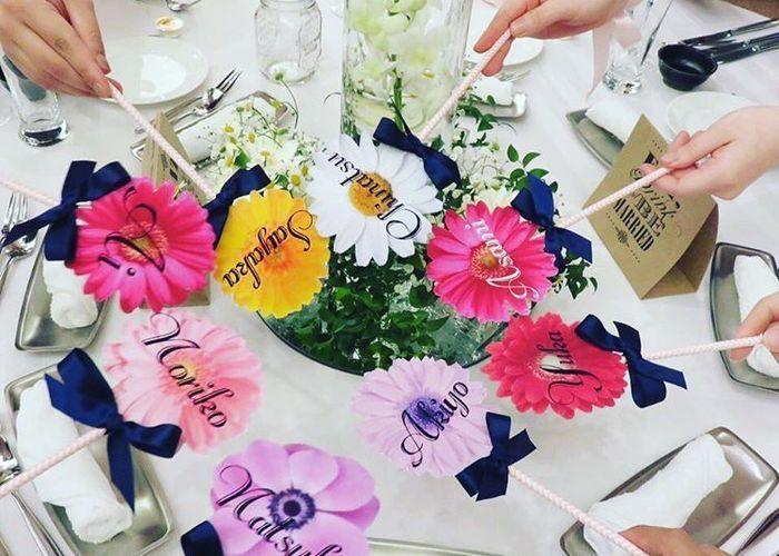 披露宴テーブルが、お花畑になる♡今流行りの『お花プロップス』が可愛すぎて今すぐ作りたい!のトップ画像