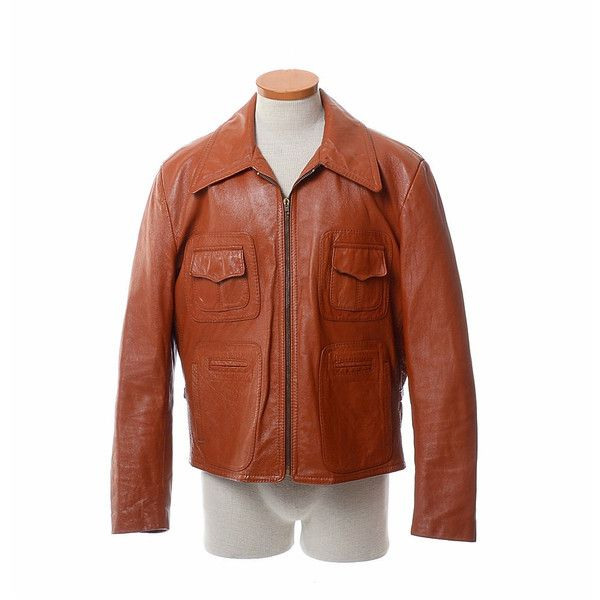 Vintage 60s 70s Mod Rocker Leather Jacket 1960s 1970s Hippie Boho... ($49) ❤ liked on Polyvore featuring men's fashion, men's clothing, men's outerwear, mens leather apparel, leather mens clothing, men's apparel and vintage mens clothing