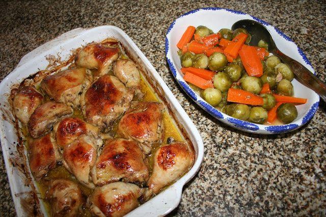 Panelinha de Sabores: pernas de frango assadas no forno com mel mostarda alecrim e laranja