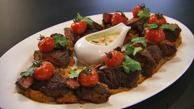 MKR4 Recipe - Baharat Beef with Sweet Potato Mash and Mint Yoghurt Sauce