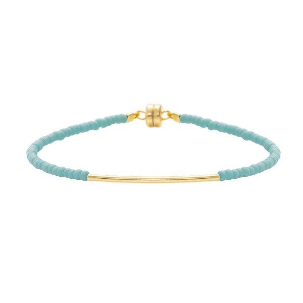 MINNIE GRACE Turquoise beaded friednship bracelet | La Luce