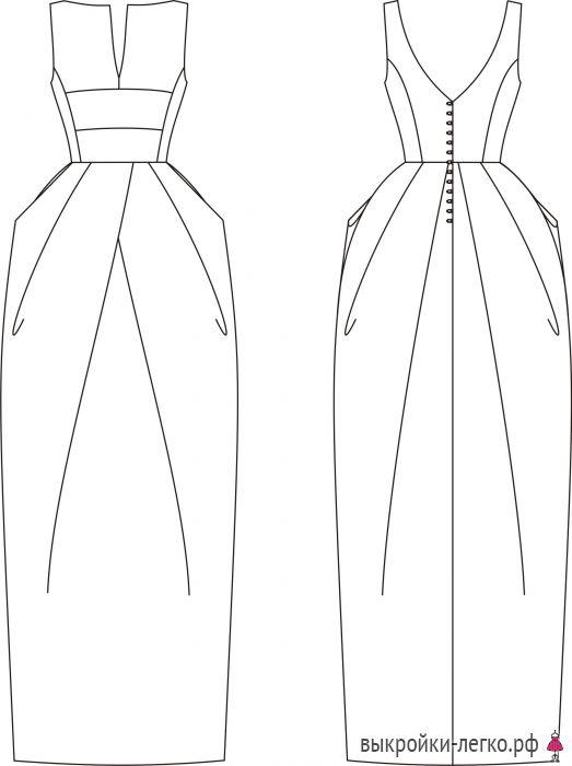 Готовая выкройка платья для торжеств | Выкройки онлайн и уроки моделирования