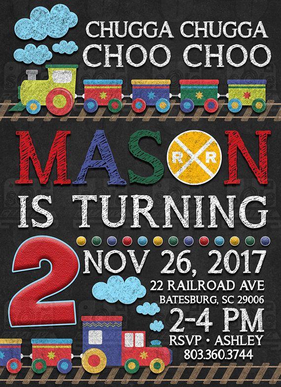 Chugga Choo Train Invitation