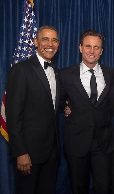 White House President Obama Tony Goldwyn - Real president and fictional president!