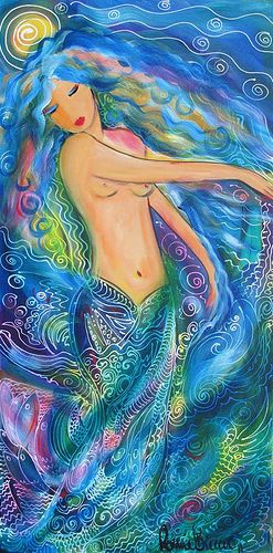 THE GODDESS OF WATER. Painting by Ronnie Biccard