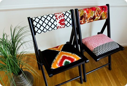 Anthropologie inspired folding chairs