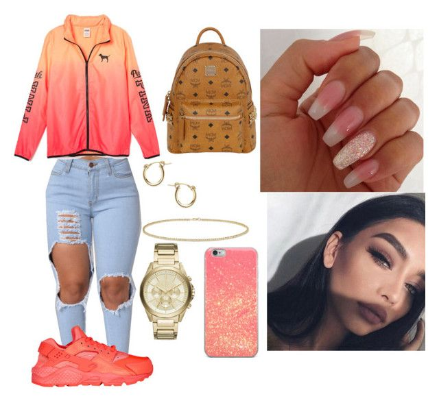 """""""Untitled #773"""" by prinxesss on Polyvore featuring NIKE, MCM, Anne Sisteron and Armani Exchange"""