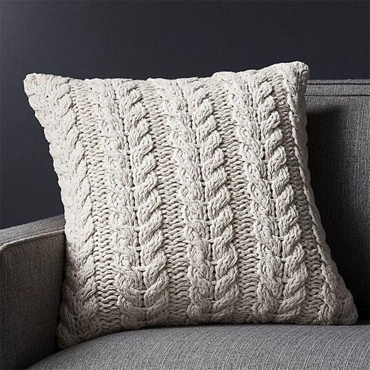Comfy, cozy knits are the key to creating the ultimate relaxed living space. Give your home a cozy, easy update by simply switching out your pillows with these finds! #homedecor #livingroom #cozydecor