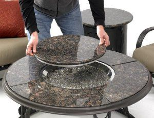 "Amazon.com: Outdoor Greatroom Company 42"" Granite Gas Fire Pit Table: Patio, Lawn & Garden"
