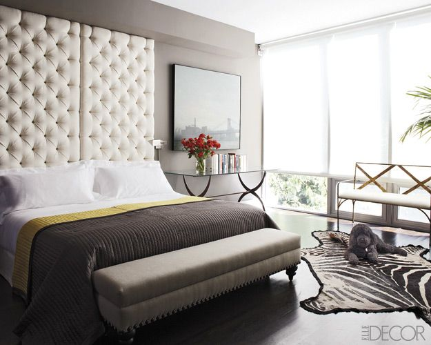 This room is the perfect mix of masculine feminine if you for Masculine headboards