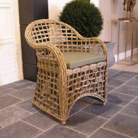 Korbsessel Janusa Klassisch eleganter Rattan- Sessel für Ihre Wohnung oder den Wintergarten.