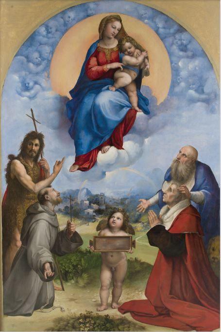 Madonna di Foligno (Raffaello Sanzio) dal 18 gennaio finalmente tornerà in città anche se per pochi giorni. Da non perdere!!