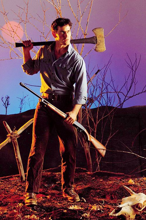 vintagegal: Bruce Campbell in The Evil Dead (1981)