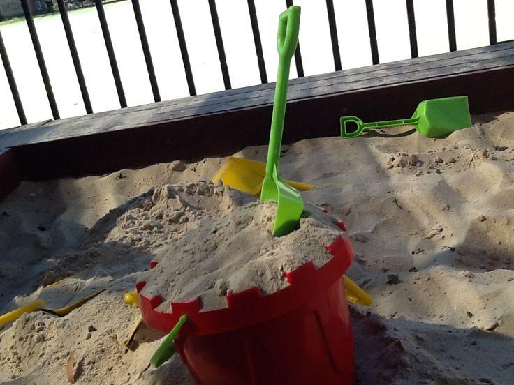 sandpit in the playgroup #sandpit