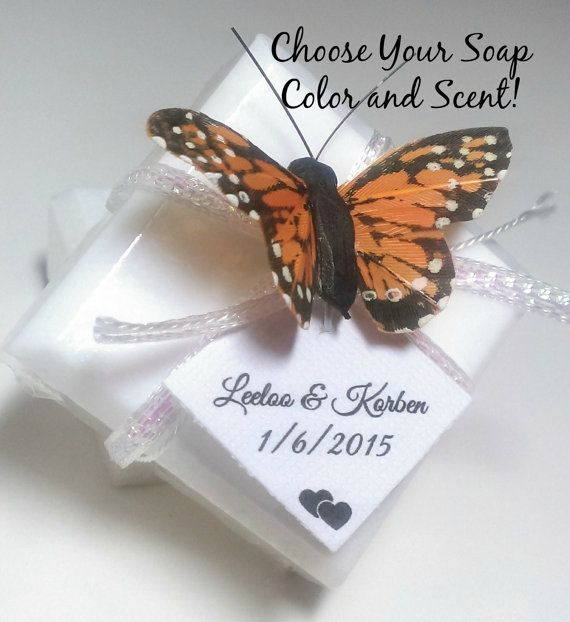 Items similar to Butterfly Wedding Favor Soaps, 96 Bridal Shower Butterfly Favors, Natural Wedding Soap Favors, Rustic wedding, unique wedding, Custom Favors on Etsy