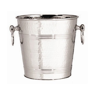 Tablecraft 7 Qt. Stainless Steel Wine Bucket in Hammered $25.99