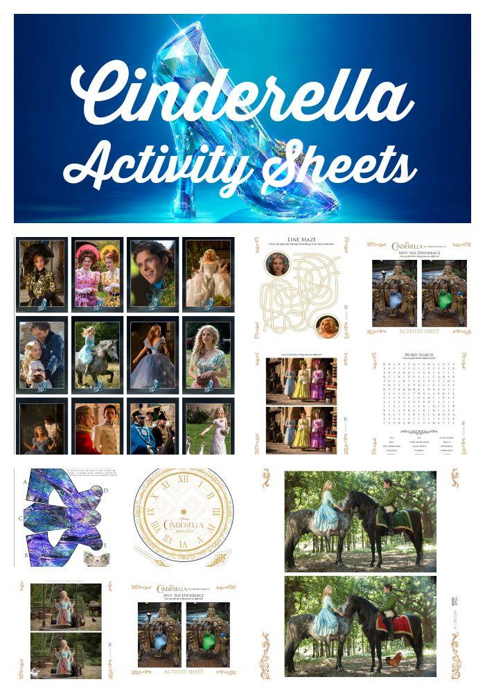 Cinderella Activity Sheets {Printable Games and More} #Cinderella