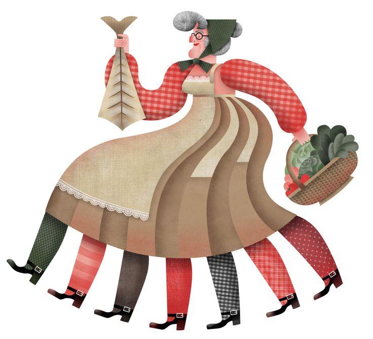 Il·lustració de la Vella Quaresma que es penjarà a la plaça de les Peixateries Velles.