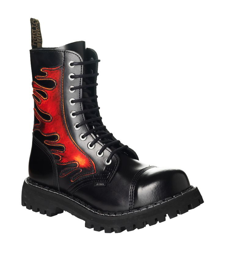 Steel Boots Flames | Rockfashion