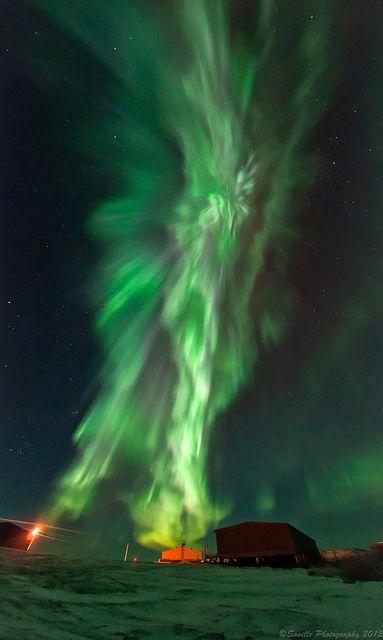 Aurora Borealis, Tuktoyaktuk, Northwest Territories, Canada