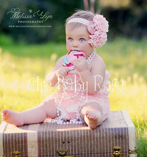 """Chic Baby Rose Petti Romper - flower girl """"dress"""" for Madalyn"""