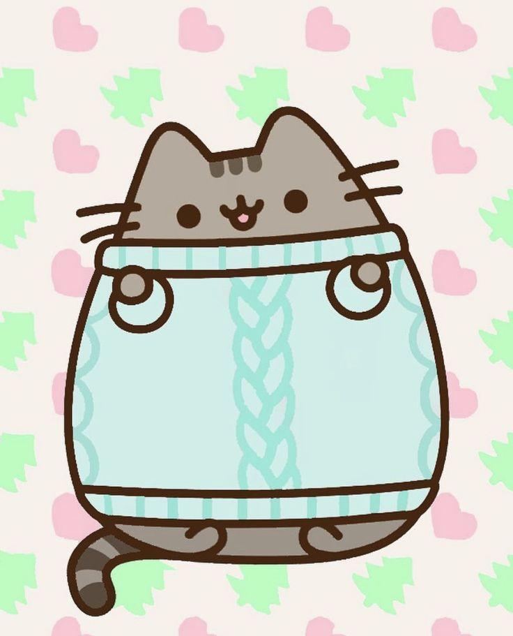 Pusheen Iphone Wallpaper Cute Pusheen Winter Wallpaper Pusheen Pusheen Cute