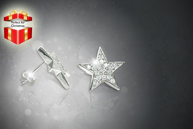 Swarovski Elements Star Earrings