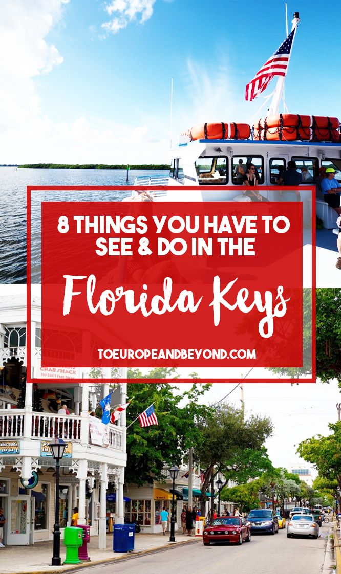 Whether you're visiting as a snowbird or as a first-timer, here are eight things to do in the Florida Keys that you absolutely can't skip. http://toeuropeandbeyond.com/things-to-do-in-the-florida-keys/