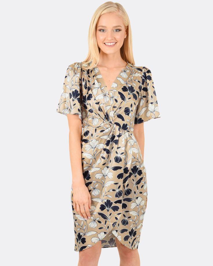Keira Twist Midi Dress, Forcast $34.30  http://www.shopyou.com.au/ #womensfashion #shopyoustyle